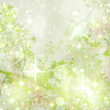 sparkly: Sparkly Garden Art Textured  Background Stock Photo