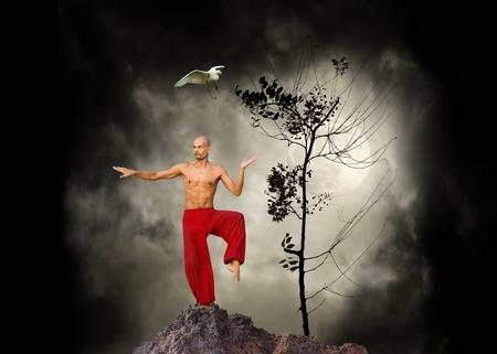 Imagen de un fondo de artes marciales Kung Fu Foto de archivo - 9813730