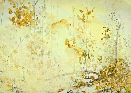 Yellow Cassia Fistula Art illustration Textured Background