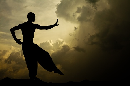Image of a Martial Arts Meditation Textured Background Stock Photo