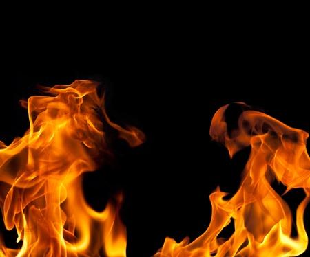 llamas de fuego: Imagew de un fondo de frontera de llama de fuego