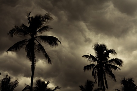 monsoon clouds: Image of a Tropical Monsoon Skyline Background Stock Photo