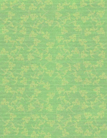 Faded Jade Faint Floral print on Ribbed Paper Background  Stock Photo