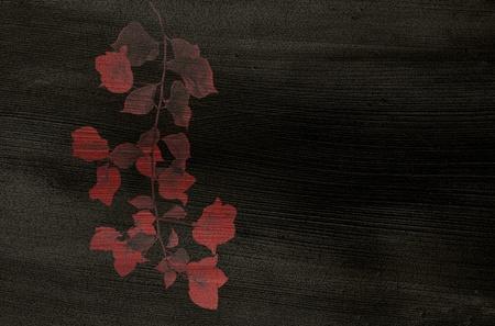 bougainvillea: Red Flower print on Black Coconut Paper
