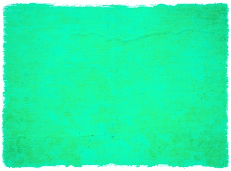 Grunge Water Green Blossom Background with Rough Edge Isolated with Clipping Path  photo