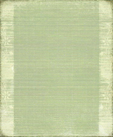 Green Vintage Bamboo Ribbed Background with Frame
