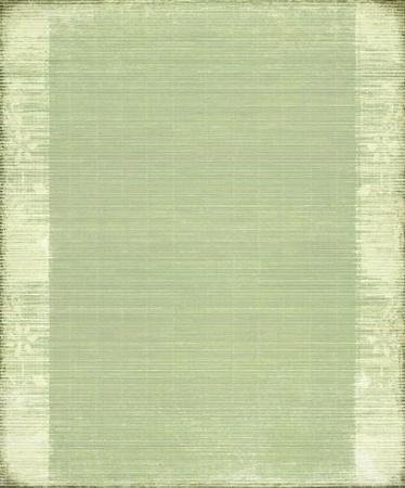 Vintage fondo de bambú verde acanalado con el marco de Foto de archivo