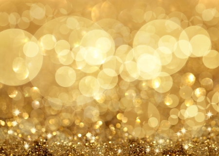 sparkles: Twinkley Lights and Stars Christmas Golden Background