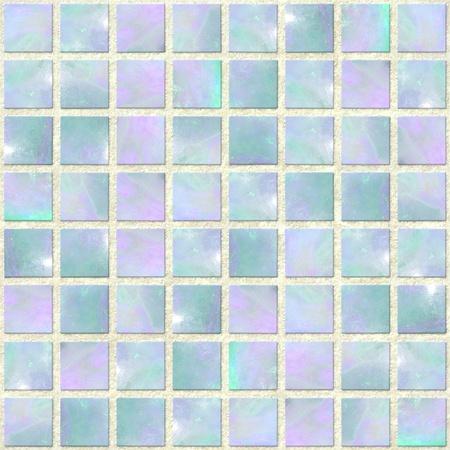Blue Opal Mosaic Seamless photo