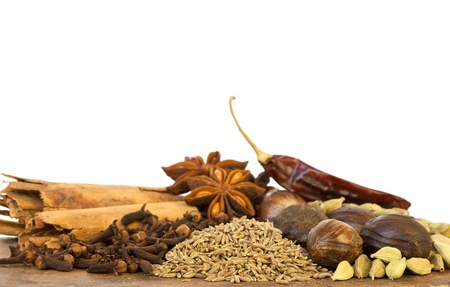flavorings: Image of Mixed Spices on White Background