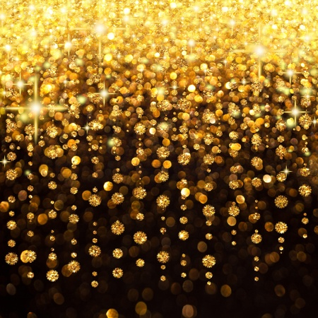Image of Rain of Lights Christmas or Party Background