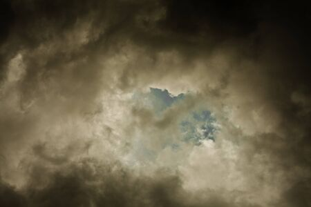Dramatic Dark Storm Tropical Clouds with darker edges 版權商用圖片