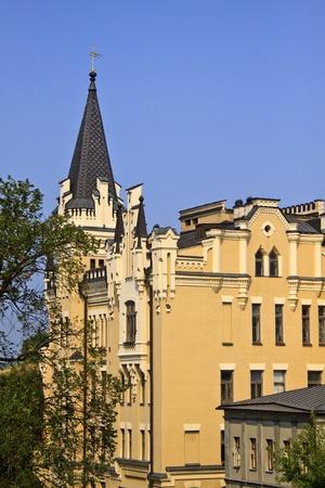Castle of Richard the Lionheart. Andriyivskyy Descent, Kiev, Ukraine Stock Photo - 11996359
