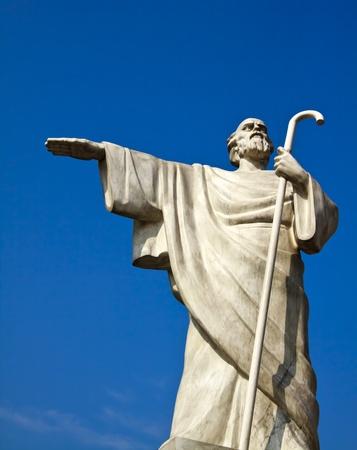 andrew: Saint Andrew monument, Kiev, Ukraine Stock Photo
