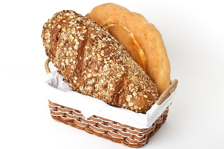 black home made italian bread with sunflower seeds
