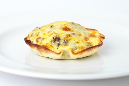 julienne with mushrooms and cheese