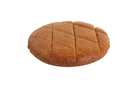 round bread cake isolated on white background