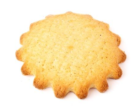 fresh baked sweet cake on white background