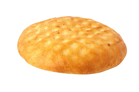 fresh bread loaf isolated on white background Stock Photo