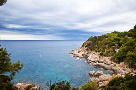 Coastline at the Lloret de Mar. Costa Brava, Catalonia, Spain