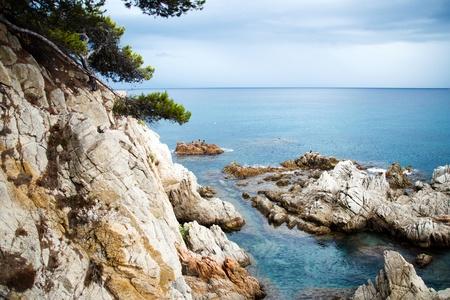 Costa Brava landscape near Lloret de Mar, Catalonia, Spain.