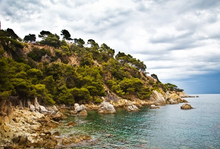 Costa Brava landscape near Lloret de Mar, Catalonia, Spain.