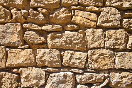 big brown stone wall background and texture