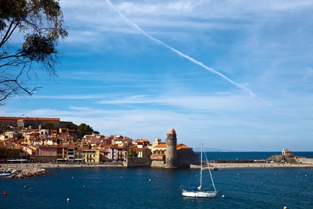 The town of Collioure in Languedoc-Roussillon in France