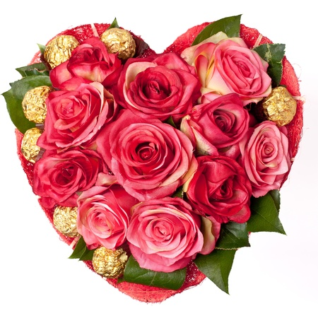 Roses in the shape of heart, Love, romance, Valentines day