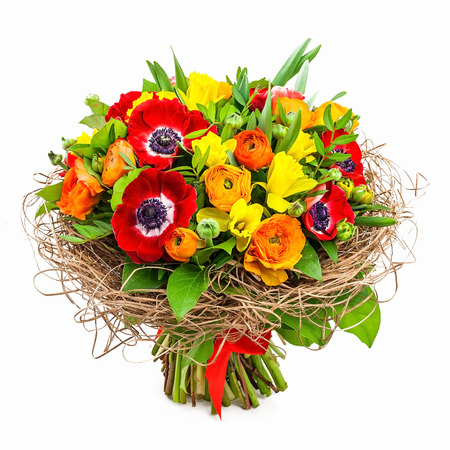 bouquet of flowers in vase Standard-Bild