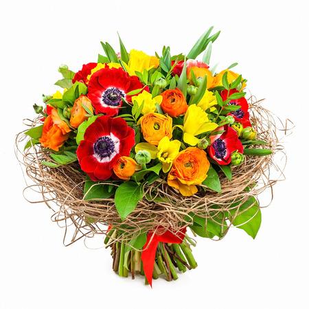 ramo de flores: ramo de flores en el florero
