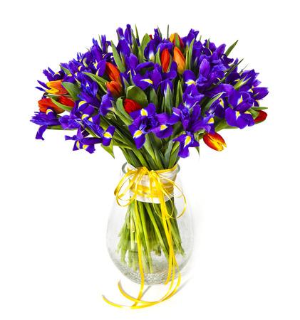 Top Bouquet De Fleurs Jaunes Et Orange Isolé Sur Fond Blanc Banque D  UQ11