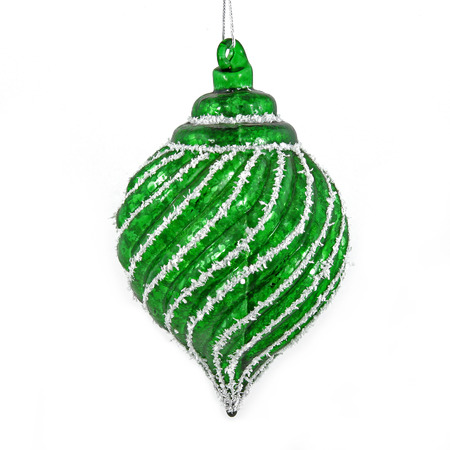 Green christmas toy isolated on white background
