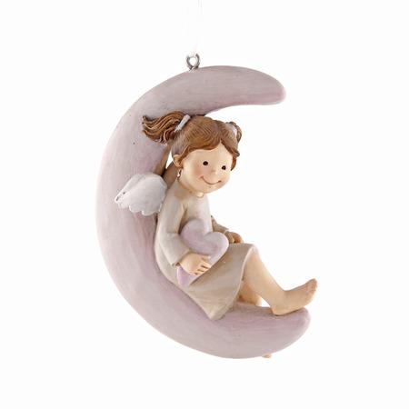 ceramic angel christmas toy isolated on white background Stock Photo