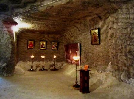 saltmine: Salt mine museum, Soledar, Ukraine Stock Photo