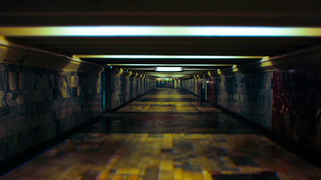 underground passage: empty underground passage Editorial