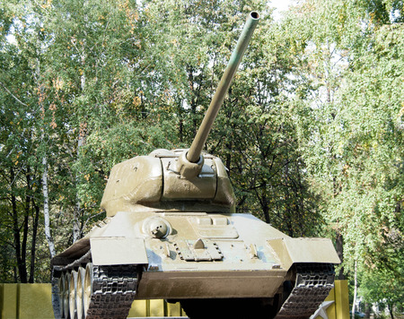 seconda guerra mondiale: old powerful tank of the second world war Archivio Fotografico