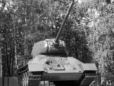 vieux réservoir puissant de la seconde guerre mondiale