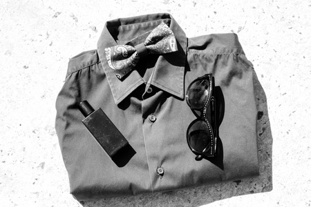 mens shirt: stylish mens shirt with accessories
