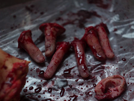 horror movies: Zombie body parts the blood of the carcass is cruelty horror movies