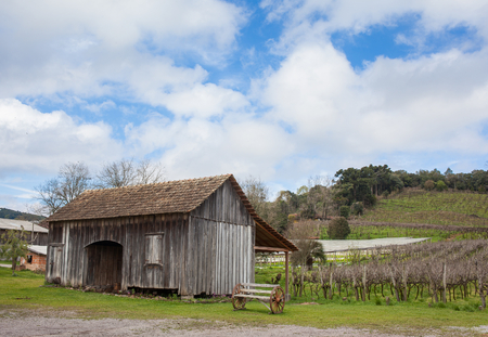 grande: An old wooden house at Rio Grande do Sul - Brazil