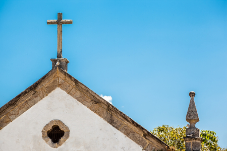 senhora: Cross of church of Nossa Senhora dos Remedios - Paraty - RJ - Brazil Stock Photo
