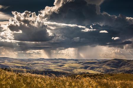 Rain at fields of Serra da Canastra National Park - Minas Gerais - Brazil