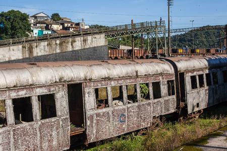 basslet: Abandoned train in Paranapiacaba railway station- SP - Brazil Stock Photo