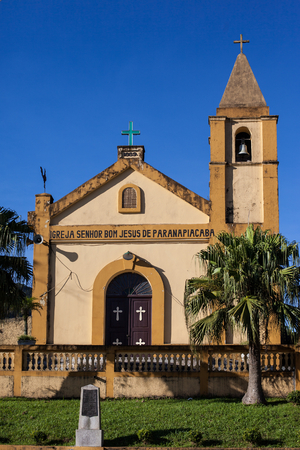 basslet: Church of Senhor Bom Jesus, built at 1889, Paranapiacaba - Brazil Stock Photo