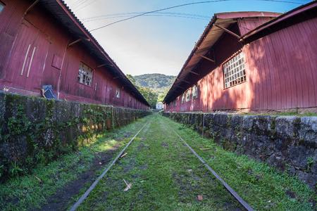basslet: Train maintenance workshop in Paranapiacaba - SP - Brazil Stock Photo
