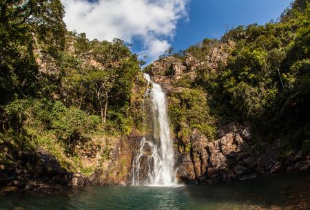 azul: Serra Azul Waterfall in Nobres - Mato Grosso - Brazil