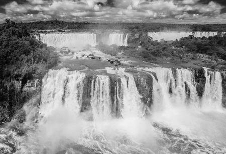 world natural heritage: Iguassu Falls at Iguassu National Park, World Natural Heritage Site by UNESCO Stock Photo