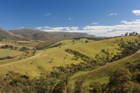 green hills: Mountains of Minas Gerais State - Serra da Canastra National Park - Brazil