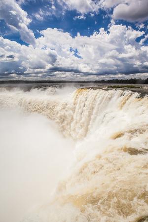 world natural heritage: Devils Throat at Iguazu National Park, World Natural Heritage Site by UNESCO Stock Photo